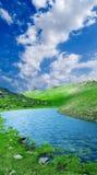 montagne de lac Images libres de droits