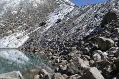 montagne de lac Image libre de droits