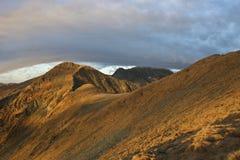 Montagne de lever de soleil Images libres de droits
