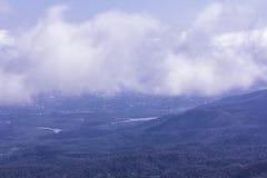 Montagne de lundi de forme de ville de chiangmai de vue longue Image libre de droits