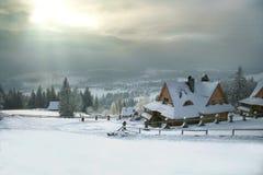 montagne de maison Photo libre de droits