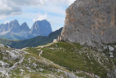 Montagne de Marmolada Photos libres de droits