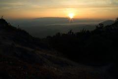 montagne de matin images stock