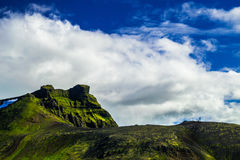 Montagne de Midfell en parc national de Snaefellsjokull Photo stock