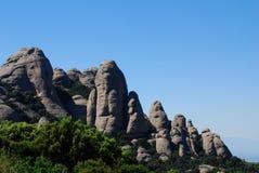 Montagne de Montserrat. Images libres de droits