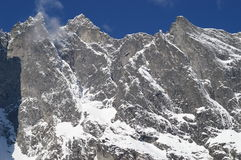Montagne de mur de traîne Photo libre de droits