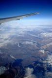 Montagne de neige à partir de dessus Photos libres de droits