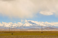 Montagne de neige Image libre de droits
