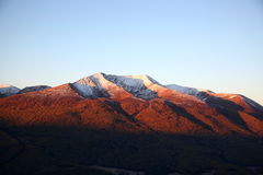 Montagne de neige Image stock