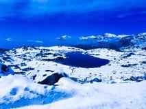 Montagne de neige Photo stock