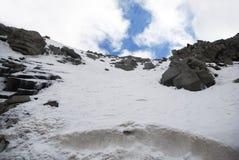 Montagne de neige Photos stock
