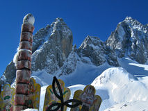 Montagne de neige, Chine Photographie stock