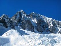 Montagne de neige, Chine Images libres de droits