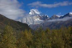 Montagne de neige d'écran de Wied images libres de droits