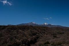 Montagne de neige dans Yamanashi Photographie stock