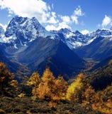 Montagne de neige de Baimang images libres de droits