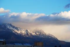Montagne de neige de dragon de jade images libres de droits