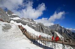 Montagne de neige de dragon de jade Image libre de droits