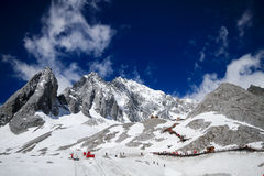 Montagne de neige de dragon de jade Image stock