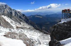 Montagne de neige de dragon de jade Photo libre de droits