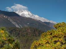 Montagne de neige de Haba, Yunnan, Chine Image libre de droits