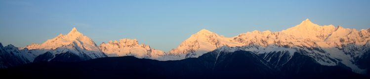Montagne de neige de Meili (prince Snow Mountain) Images stock