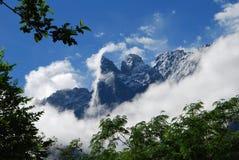 Montagne de neige de Yulong dans la porcelaine occidentale Images libres de droits