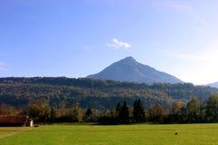 Montagne de neige en Suisse Photo libre de droits