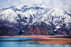 Montagne de neige, Tashkent, Uzbekistan Image stock