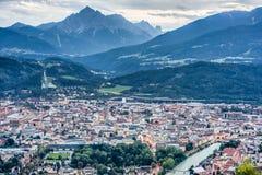 Montagne de Nordkette au Tyrol, Innsbruck, Autriche. images libres de droits
