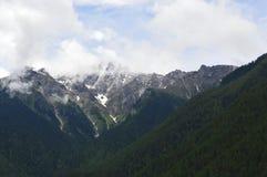 Montagne de paysage-neige du Thibet Images libres de droits