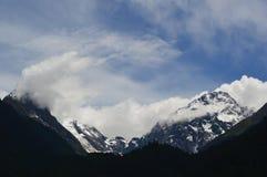 Montagne de paysage-neige du Thibet Photos stock