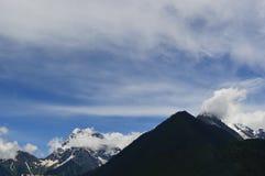 Montagne de paysage-neige du Thibet Photographie stock libre de droits