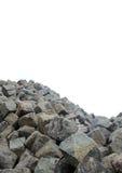 Montagne de pierre de galet Photographie stock