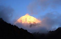 Montagne de Qi de rinpoche d'Okada Image libre de droits