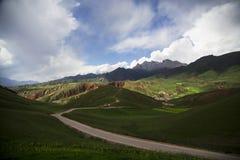 Montagne de Qilian, prairies Photos stock