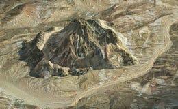 montagne de roche de vue aérienne Images libres de droits