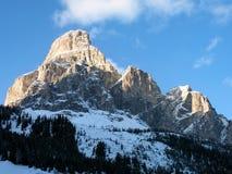 Montagne de Sassongher. Images stock