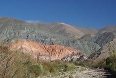 Montagne de sept couleurs Photos stock