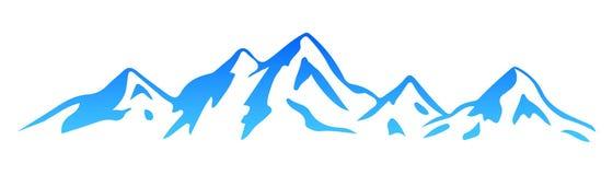 Montagne de silhouette - vecteur illustration libre de droits