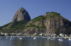 Montagne de Sugarloaf - Rio de Janeiro - Brésil images libres de droits