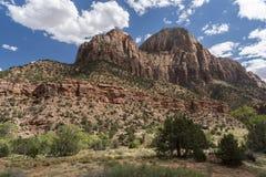 Montagne de Sun Zion National Park images libres de droits