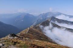 Montagne de Tatry en automne Images stock