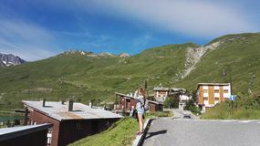 The city of Tignes in the french mountain Royalty Free Stock Images