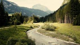 Montagne de Trentino de vue aérienne en Italie banque de vidéos