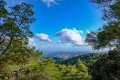 Montagne de Troodos en Chypre, une vue à partir du dessus Photos libres de droits