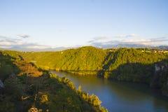 Montagne de vallée de ciel photos libres de droits