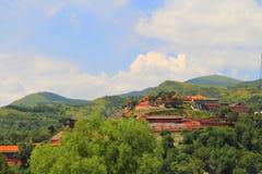 Montagne de Wutai dans la province de Shanxi, Chine Photos libres de droits