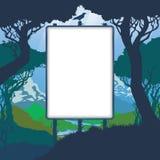 Montagne degli alberi della natura del modello Immagini Stock Libere da Diritti