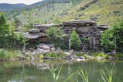 montagne del bayanaul immagini stock